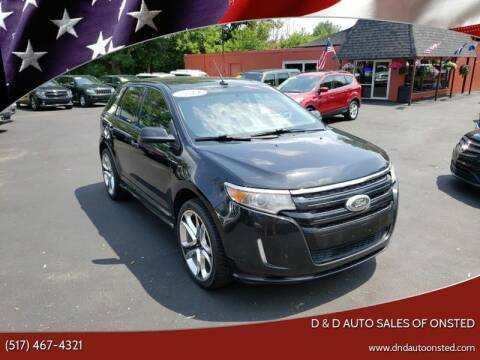 2011 Ford Edge for sale at D & D Auto Sales Of Onsted in Onsted   Brooklyn MI