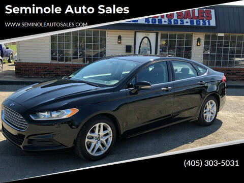 2016 Ford Fusion for sale at Seminole Auto Sales in Seminole OK