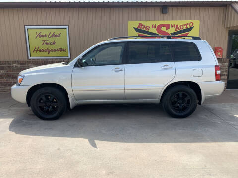 2005 Toyota Highlander for sale at BIG 'S' AUTO & TRACTOR SALES in Blanchard OK
