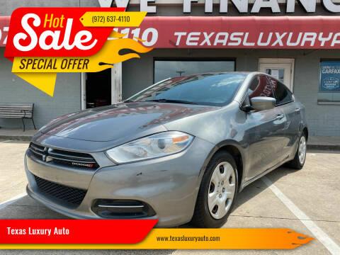2013 Dodge Dart for sale at Texas Luxury Auto in Cedar Hill TX
