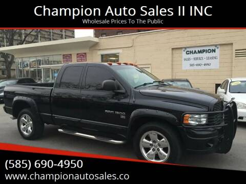 2005 Dodge Ram Pickup 1500 for sale at Champion Auto Sales II INC in Rochester NY