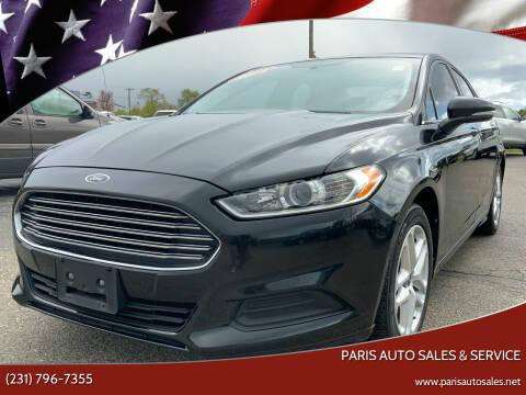 2014 Ford Fusion for sale at Paris Auto Sales & Service in Big Rapids MI
