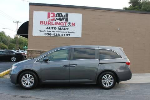 2014 Honda Odyssey for sale at Burlington Auto Mart in Burlington NC