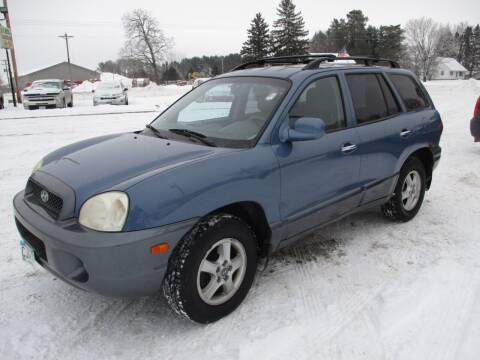 2003 Hyundai Santa Fe for sale at D & T AUTO INC in Columbus MN