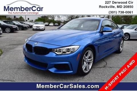 2014 BMW 4 Series for sale at MemberCar in Rockville MD