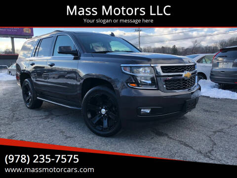 2015 Chevrolet Tahoe for sale at Mass Motors LLC in Worcester MA