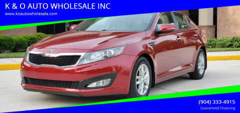 2013 Kia Optima for sale at K & O AUTO WHOLESALE INC in Jacksonville FL