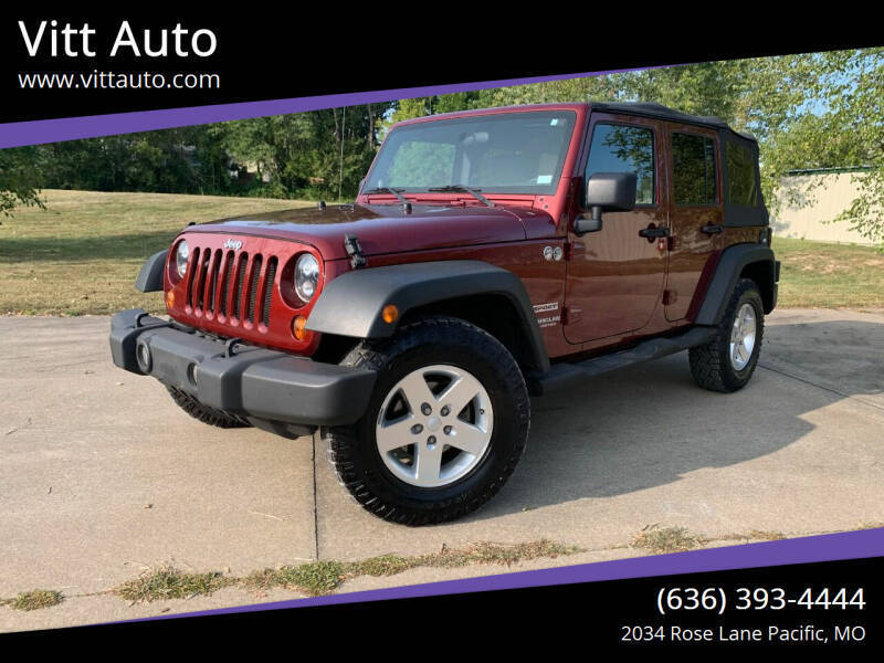 2010 Jeep Wrangler Unlimited for sale at Vitt Auto in Pacific MO