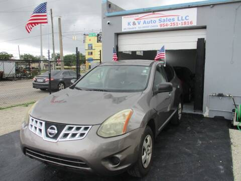 2012 Nissan Rogue for sale at K & V AUTO SALES LLC in Hollywood FL