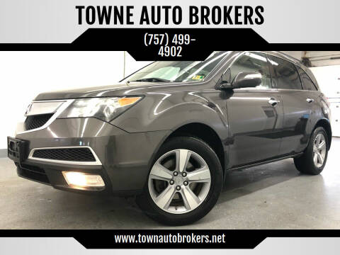 2011 Acura MDX for sale at TOWNE AUTO BROKERS in Virginia Beach VA