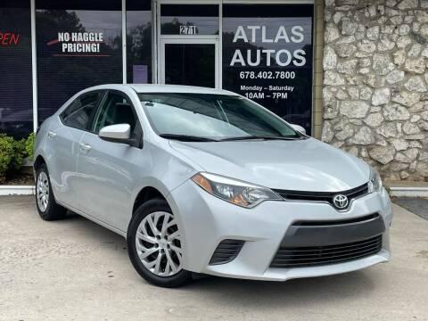 2016 Toyota Corolla for sale at ATLAS AUTOS in Marietta GA