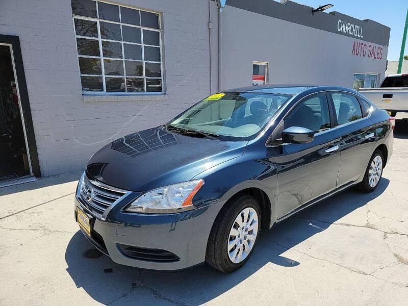 2013 Nissan Sentra for sale at CHURCHILL AUTO SALES in Fallon NV