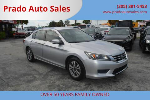 2013 Honda Accord for sale at Prado Auto Sales in Miami FL
