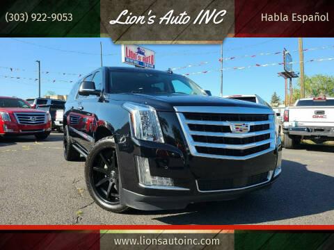 2016 Cadillac Escalade ESV for sale at Lion's Auto INC in Denver CO