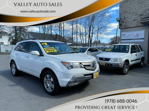 2008 Acura MDX for sale at VALLEY AUTO SALES in Methuen MA