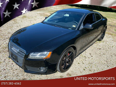 2010 Audi A5 for sale at United Motorsports in Virginia Beach VA