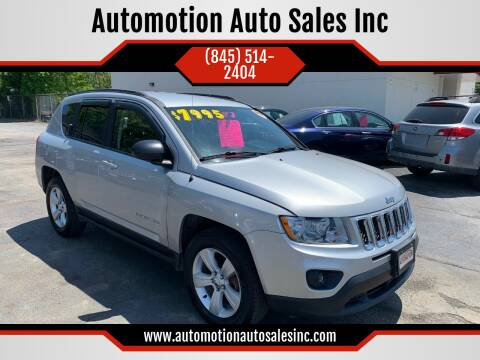 2013 Jeep Compass for sale at Automotion Auto Sales Inc in Kingston NY