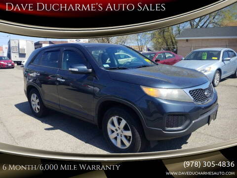 2011 Kia Sorento for sale at Dave Ducharme's Auto Sales in Lowell MA