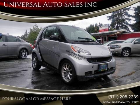 2009 Smart fortwo for sale at Universal Auto Sales Inc in Salem OR