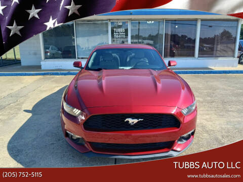 2016 Ford Mustang for sale at Tubbs Auto LLC in Tuscaloosa AL