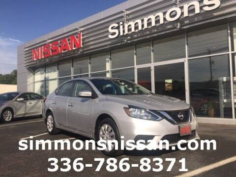 2019 Nissan Sentra for sale at SIMMONS NISSAN INC in Mount Airy NC