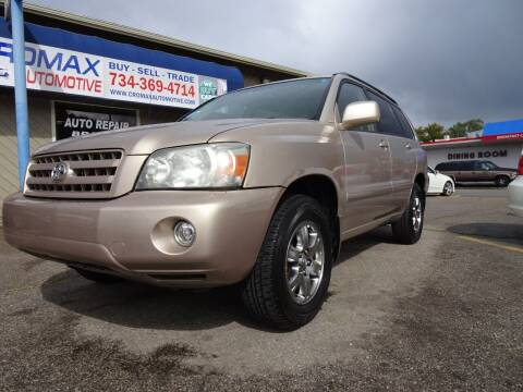 2005 Toyota Highlander for sale at Cromax Automotive in Ann Arbor MI