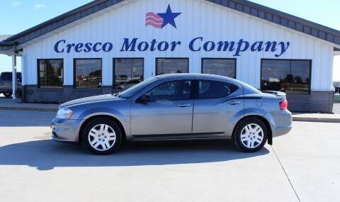 2012 Dodge Avenger for sale at Cresco Motor Company in Cresco IA