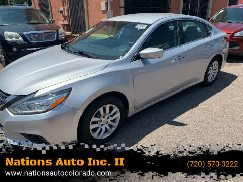 2016 Nissan Altima for sale at Nations Auto Inc. II in Denver CO
