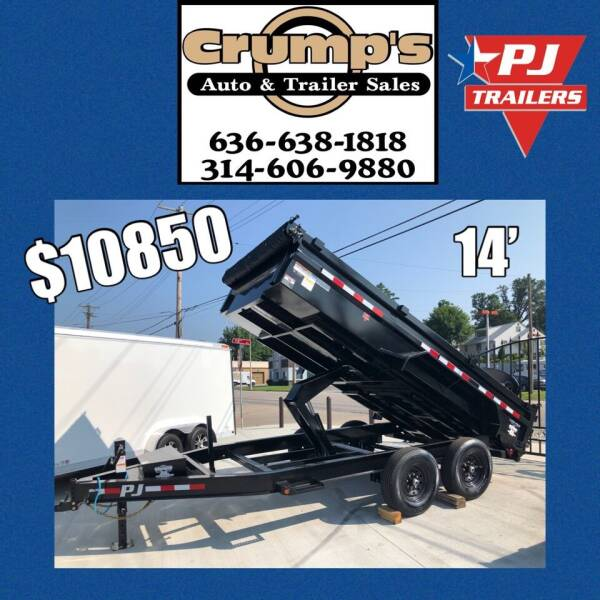 2022 PJ  14' Dump Trailer for sale at CRUMP'S AUTO & TRAILER SALES in Crystal City MO
