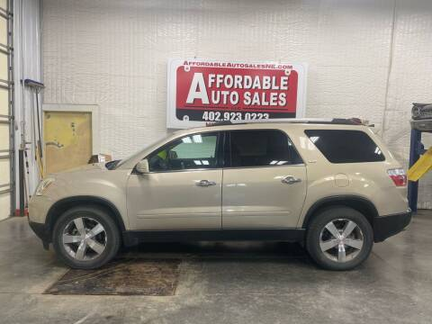 2011 GMC Acadia for sale at Affordable Auto Sales in Humphrey NE