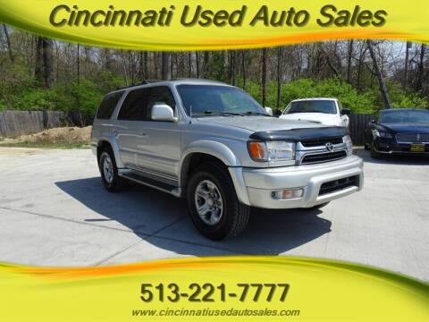 2001 Toyota 4Runner for sale at Cincinnati Used Auto Sales in Cincinnati OH