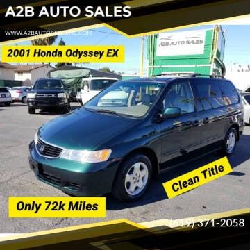 2001 Honda Odyssey for sale at A2B AUTO SALES in Chula Vista CA