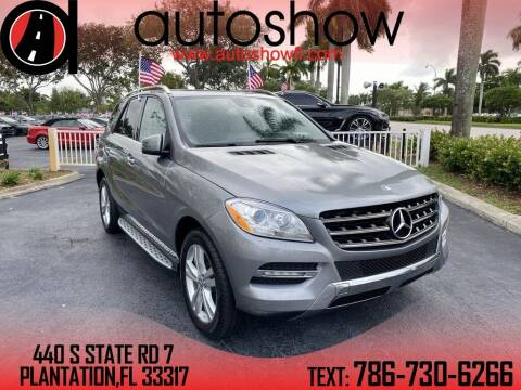 2015 Mercedes-Benz M-Class for sale at AUTOSHOW SALES & SERVICE in Plantation FL