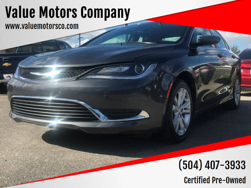 2017 Chrysler 200 for sale at Value Motors Company in Marrero LA