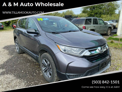2018 Honda CR-V for sale at A & M Auto Wholesale in Tillamook OR