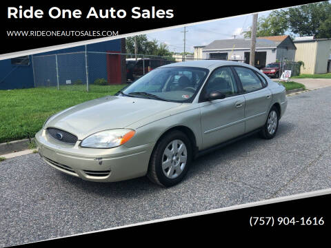 2005 Ford Taurus for sale at Ride One Auto Sales in Norfolk VA