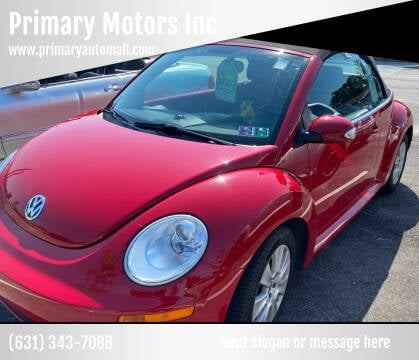 2010 Volkswagen New Beetle Convertible for sale at Primary Motors Inc in Commack NY