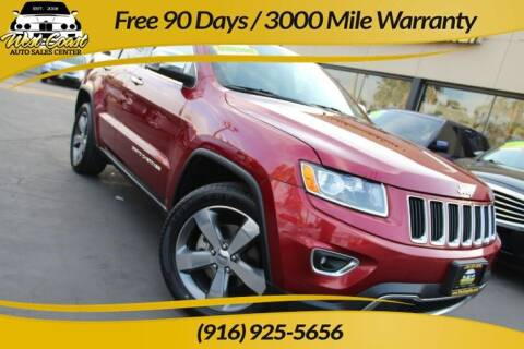 2015 Jeep Grand Cherokee for sale at West Coast Auto Sales Center in Sacramento CA