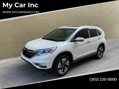 2016 Honda CR-V for sale at My Car Inc in Hialeah FL