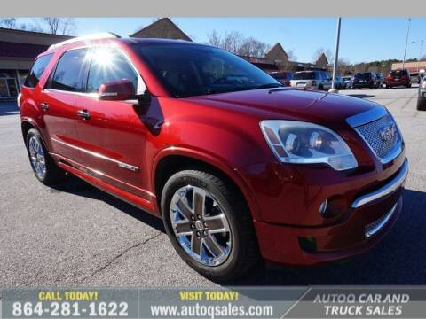 2012 GMC Acadia for sale at Auto Q Car and Truck Sales in Mauldin SC