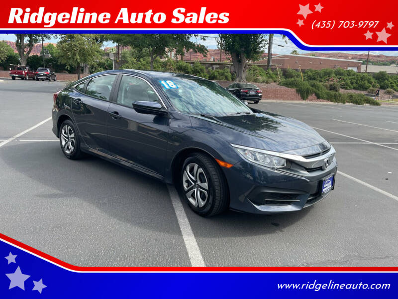 2018 Honda Civic for sale at Ridgeline Auto Sales in Saint George UT
