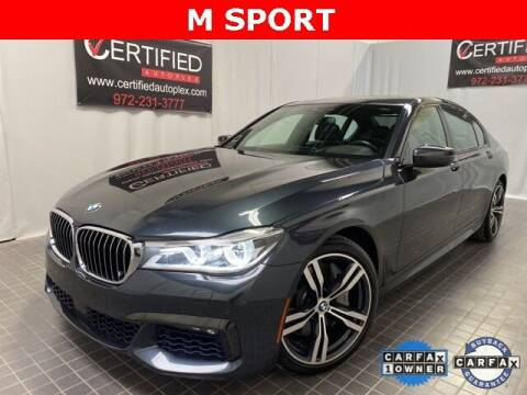 2018 BMW 7 Series for sale at CERTIFIED AUTOPLEX INC in Dallas TX