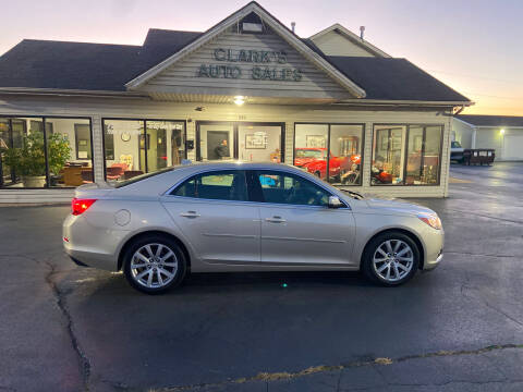 2013 Chevrolet Malibu for sale at Clarks Auto Sales in Middletown OH