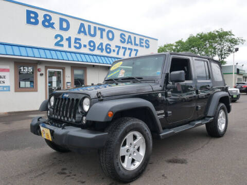 2014 Jeep Wrangler Unlimited for sale at B & D Auto Sales Inc. in Fairless Hills PA