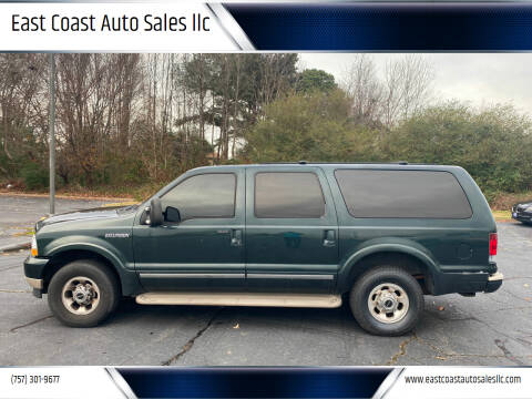 2003 Ford Excursion for sale at East Coast Auto Sales llc in Virginia Beach VA