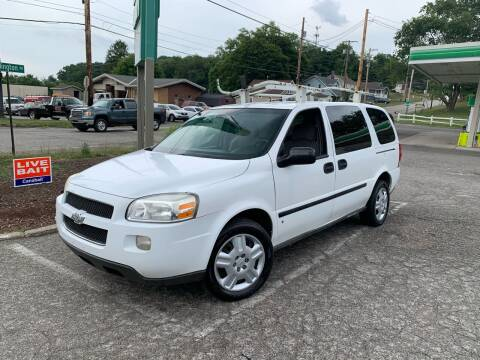 2008 Chevrolet Uplander for sale at Blackhawk Motors LLC in Beaver Falls PA
