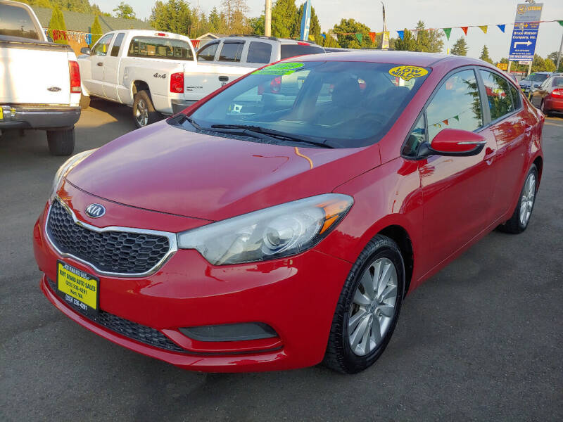 2014 Kia Forte for sale at KENT GRAND AUTO SALES LLC in Kent WA