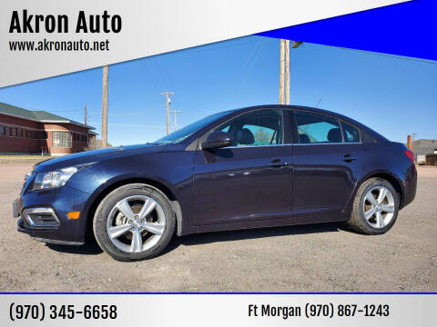 2015 Chevrolet Cruze for sale at Akron Auto in Akron CO