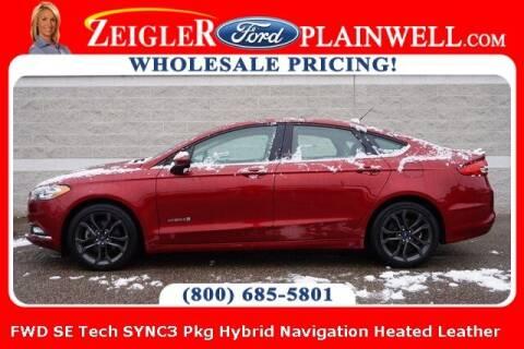 2018 Ford Fusion Hybrid for sale at Zeigler Ford of Plainwell- michael davis in Plainwell MI