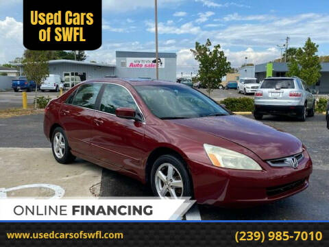 2003 Honda Accord for sale at Used Cars of SWFL in Fort Myers FL